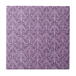 Victorian Purple Floral Ceramic Tile