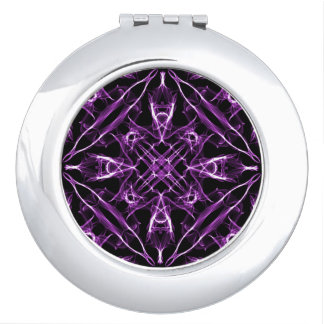 Victorian Purple Fractal Pattern Travel Mirrors