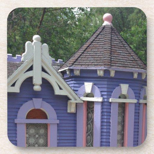 Victorian Purple House Beverage Coaster