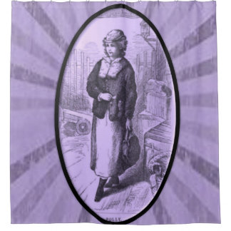 VIctorian purple lady showercurtain Shower Curtain