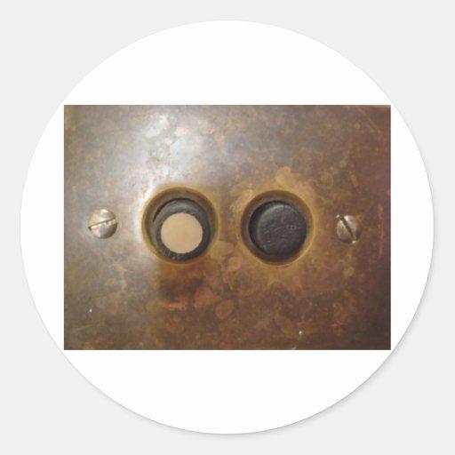 Victorian Push Button Light Switch Round Stickers