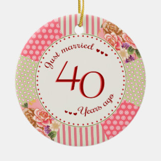 Victorian Quilt 40th Anniversary Christmas Gifts Christmas Ornament
