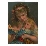 Victorian Reading Time Greeting Cards