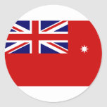 Victorian Red Ensign, Australia flag Round Stickers