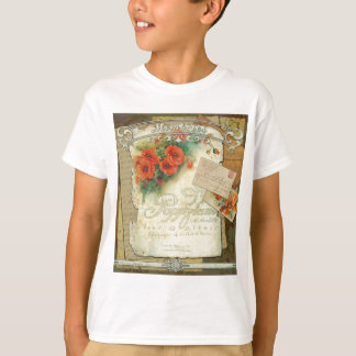 Victorian Red Poppies Memories T-Shirt