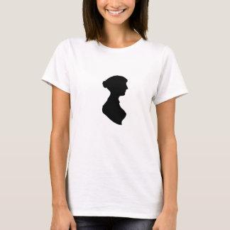 Victorian Regency Woman Silhouette Portrait T-Shirt