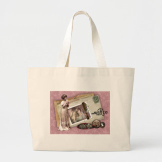 Victorian Romantic Love Letters Jumbo Tote Bag