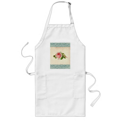 Victorian Rose and Damask Apron