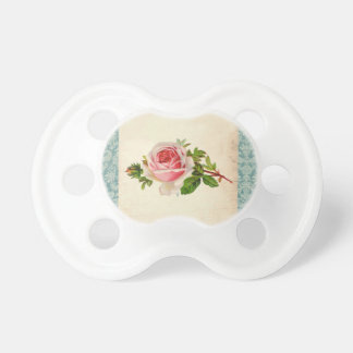 Victorian Rose and Damask Baby Pacifiers