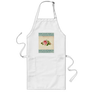 Victorian Rose and Damask Long Apron