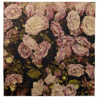 Victorian rose antiqued napkin
