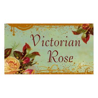 Victorian Rose Custom Standard Size Business Cards