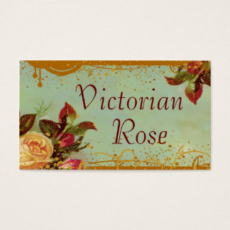 Victorian Rose Custom Standard Size Business Cards