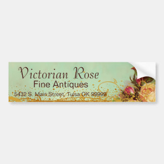 Victorian Rose Elegant Bumper Sticker