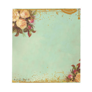 Victorian Rose Elegant Paper Notepad