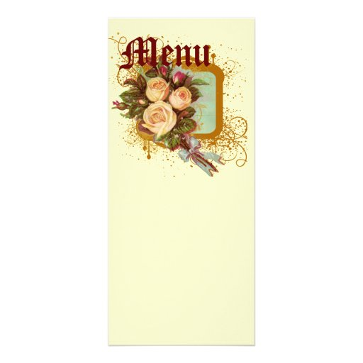 Victorian Rose Elegant Personalized Rack Card