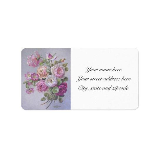 Victorian roses address labels