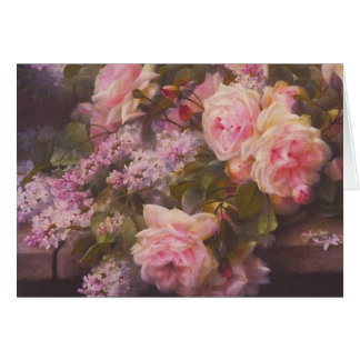 Victorian Roses and Lilacs Card