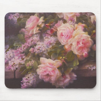 Victorian Roses and Lilacs Mouse Pad