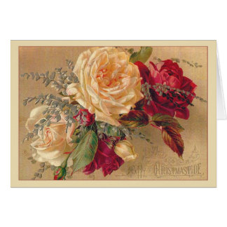 Victorian Roses Christmas Card
