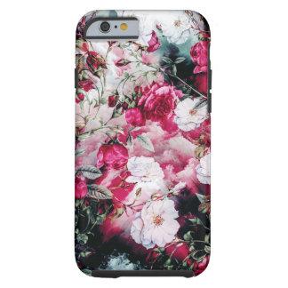Victorian Roses Floral pink mauve white black Tough iPhone 6 Case