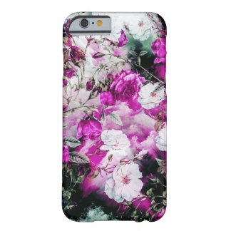 Victorian Roses Floral pink purple white black Barely There iPhone 6 Case
