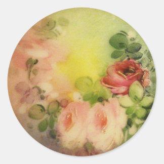 Victorian Roses Round Sticker