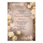 Victorian roses vintage anniversary invitations 13 cm x 18 cm invitation card