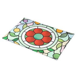 Victorian Ruby Floral Placemat Cloth Placemat