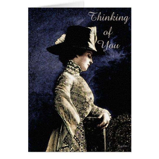 Victorian 'Sad Lady' Customisable Greeting Card