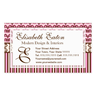 Victorian Saloon Elegant Wild West Cowgirl Damask Business Card Template