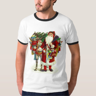 Victorian Santa and Donkey T-Shirt