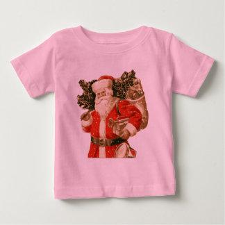 Victorian Santa, bag of toys, Christmas tree Baby T-Shirt