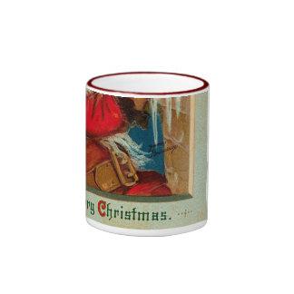 Victorian Santa Christmas Mug