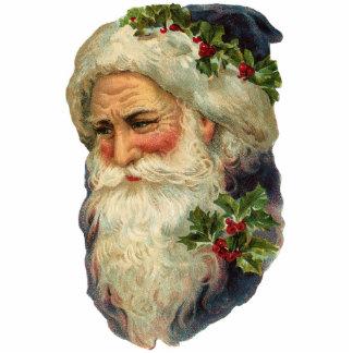 Victorian Santa Christmas Ornament Photo Sculpture Decoration