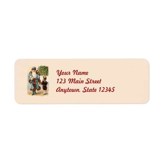 Victorian Santa Christmas Return Address Labels
