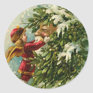 Victorian Santa Christmas Stickers