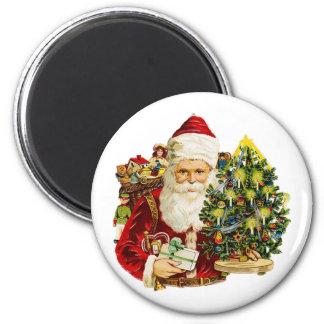 Victorian Santa Claus 6 Cm Round Magnet