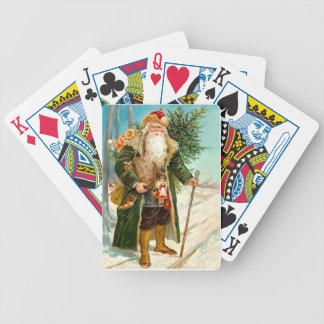 Victorian Santa Claus Bicycle Playing Cards