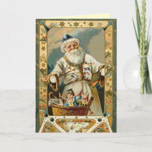 Victorian Santa Claus Christmas Card