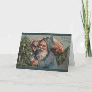 Victorian Santa Claus Christmas Greeting Card