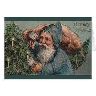Victorian Santa Claus Christmas Greeting Card