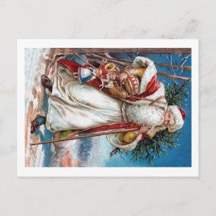 Victorian Santa Claus Holiday Postcard