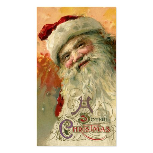 Victorian Santa Claus Portrait, A Joyous Christmas Business Cards