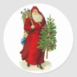 Victorian Santa Claus Stickers