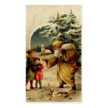 Victorian Santa Gift Card Business Cards