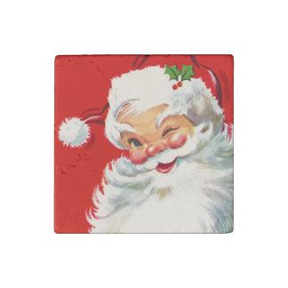 Victorian Santa Winking Stone Magnet