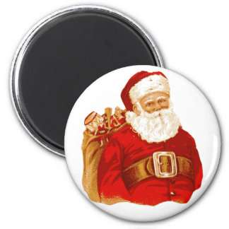 Victorian Santa with bag of toys Fridge Magnet