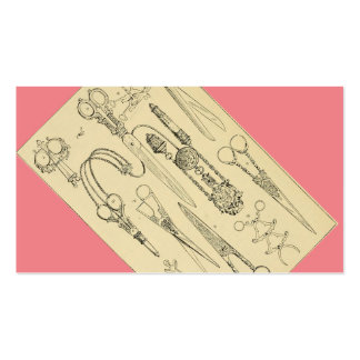 Victorian Sassy Scissors for Salon / Stylist Pack Of Standard Business Cards