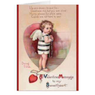 Victorian Shackled Cupid Valentine's Day Card
